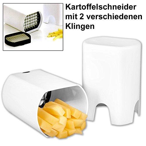 Kartoffel- & Gemüseschneider mit 2 versch. Klingen. Pommesschneider - Kartoffelschneider - Pommes Frites Schneider - Schneidemaschine - Gemüseschneider - Pommes-Frites - Kartoffel Schneider Gemüseschneider Pilzschneider Pilze Gurken Champions Pommesschneider