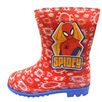 Spiderman Boys Wellington Rain Boots Red