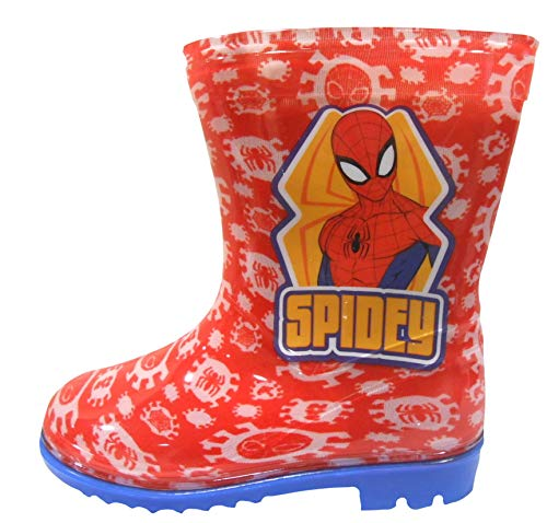 Spiderman Stiefel - Spiderman Jungen Wellington Regen Stiefel EU