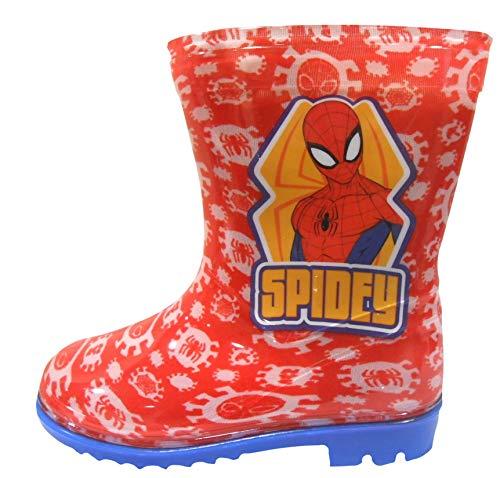 Spiderman Jungen Wellington Regen Stiefel EU 27 (Stiefel Spiderman Jungen Regen)