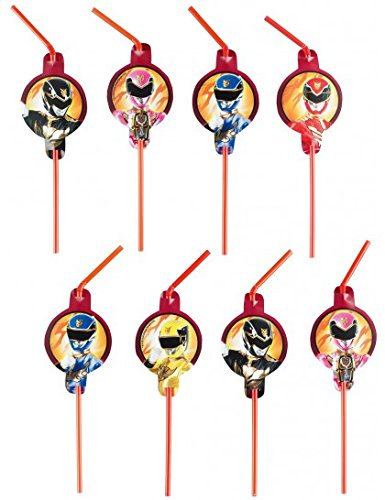 Amscan 24 cm Power Rangers 8-drinking ()