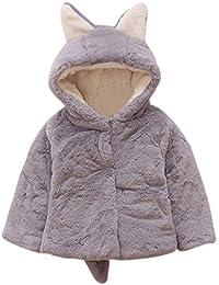 Baywell Ropa Bebé Chaqueta de Abrigos cálidos para bebés, Abrigo de Piel Ultra Gruesa Orejas de Conejo Abrigo en…
