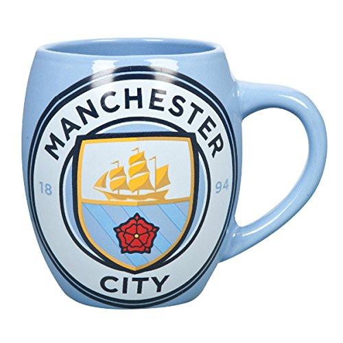 Calcio Ufficiale Team tè tazza in ceramica a forma di vasca da bagno, Manchester City FC, 13x9x12 (cm)
