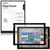 Microsoft Surface Pro 3 Screen Protector, BoxWave® [ClearTouch Ultra Anti-Glare] Bubble Free Screen Guard w/ Colored Border for Microsoft Surface Pro 3 - Jet Black