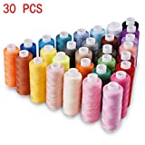 Candora® Wholesale Sewing Thread Coil 30 Color 250 Yards Each Polyester All Purpose for Hand and Machine Sewing