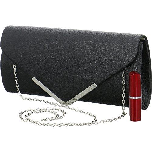 Tamaris BRIANNA Clutch Bag 2761182-001 Damen Abendtasche in Schwarz 26 x 13 x 5 cm