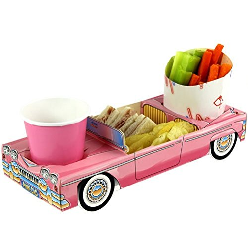 x5-girls-pink-cadillac-car-party-meal-food-trays-lunch-snack-box-plate-tray