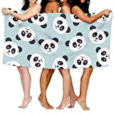 jinhuilvc Women's Cottton Funny Panda Toss Pattern Design Bath Shower...