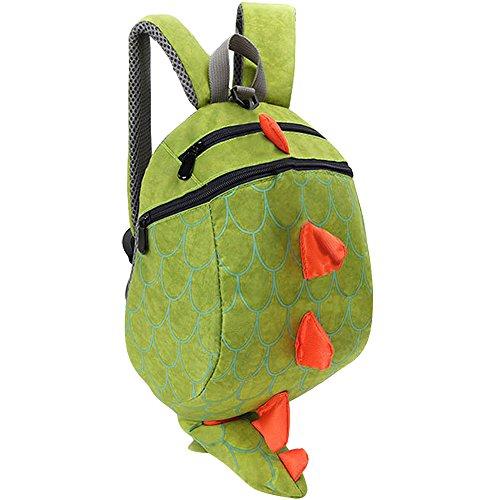 Vox Kinderrucksack Kleinkind Junge Babyrucksack Kindergartenrucksack Dinosaurier Grün