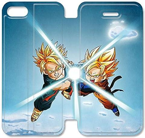 Coque iPhone 5C Coque Cuir, Klreng Walatina® PU Cuir de portefeuille de couverture Coque pour Coque iPhone 5C Design By Dragon Ball Z S3K8Bz