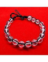 Diamond Cutting Sphatik Bracelet / Spatic Bracelet / Rock Quartz - 18 Beads (8mm