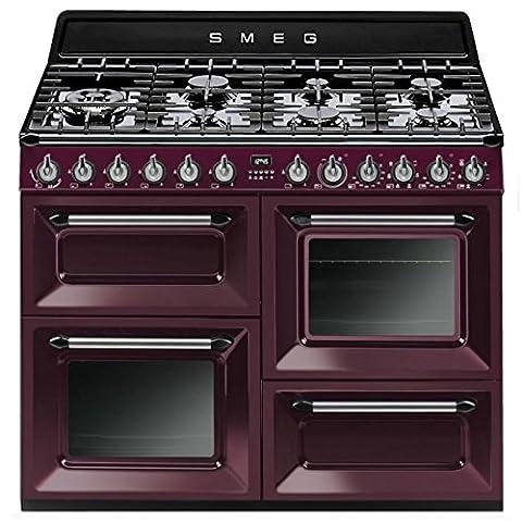Smeg TR4110RW1 Autonome Cuisinière à gaz A Violet four et cuisinière - fours et cuisinières (Autonome, Violet, Rotatif, Cuisinière à gaz, Small, Moyen)
