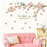 Wmbz Selbstklebende Papier Romantische Saison Pfirsich Blumengarten Wandaufkleber