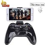 ZIHENGUO MFi Gamepad, Consola de Juegos Portátil Certificada Speedy Wireless Bluetooth Controlador de Juegos Joystick Portátil Vibración Mano para iPhone/iPad/App TV,Black