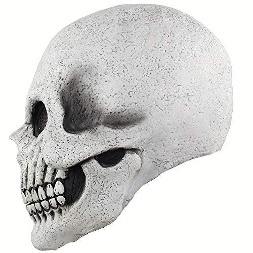 WSJPD Herren Halloween Horror Maske Kostüm Damen Kinder Weiß Maske Morris Studio Death Bones Ganzkörper -