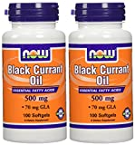 Now Foods Black Currant Oil 500Mg (70Mg Gla), 100 Softgels (Pack Of 2)