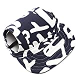 UEETEK Haustier Hund Baseball Cap Mütze Oxford Stoffmütze mit Ohr-Löcher für kleine Hunde - Größe S (blau + weiß)