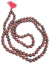 Jaz's Handmade Tiger Eye Natural Stone Knotted Beads 108+1-Jap Mala- Reiki Healing-Spiritual-Inspirational Round...