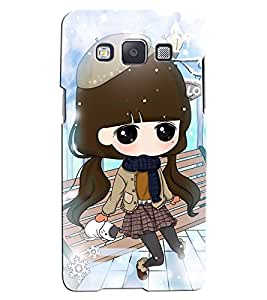 Citydreamz Little Girl Sitting on a Bench/Cute Cartoon Hard Polycarbonate Designer Back Case Cover For Samsung Galaxy Core Prime G360H/G361H