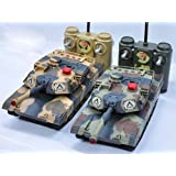 Fighting Tanks Radio Control Full Function with Infrared Shooting 2 Pack Tank... by HUAN QI RC