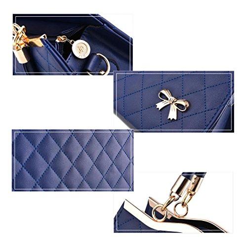 beginning Borsa Metallo Lady con blu in cielo Butterfly Croce Moda Stampa Auspicious Nodo Body HW1ddq