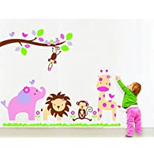 UberLyfe Jungle Theme Wall Sticker Size 4 (Wall Covering Area: 100cm x 120cm) - WS-000100