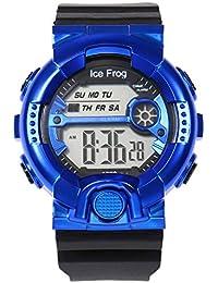 Reloj Digital Impermeable de Doble acción 10M con Doble Efecto La Moda clásica de Todo el