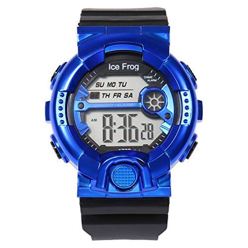 UINGKID Collection Unisex-Armbanduhr Herren Uhren Ultra Dünne Multi-Funktions-10M wasserdichte Uhr Digital Double Action Watch