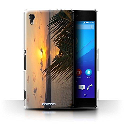 Stuff4 Gel TPU Hülle / Case für Sony Xperia M4 Aqua / Palmen Muster / Sonnenuntergang Kollektion -