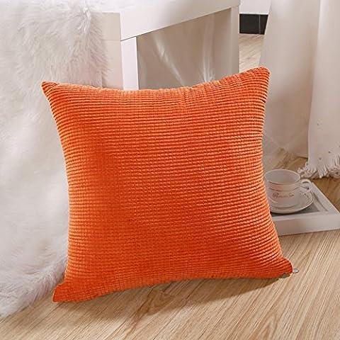 Color sólido simple abrazo moderno funda de almohada/Pana fundas/Sofá cama abrazo almohada-D 60x60cm(24x24inch)