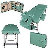 Massage Imperial - tragbare Profi-Massageliege Knightsbridge - 5 cm Schaum - Aluminium - 10 kg - Hellgrün