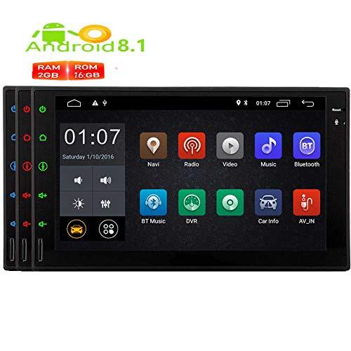 EINCAR Android 8.1 Oreo Car Stereo-Doppelt-Lärm mit Video-Audio-Player GPS-Navigation WiFi Autoradio Bluetooth-Unterstützung USB/SD/Mirrorlink/FM/AM-Radioempfänger in Dash 1080P OBD2 DAB