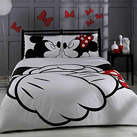 Disney Mickey & Minnie Adore Double Duvet Cover Licenced Product by Ta?by Tachometex