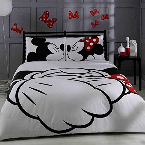 Disney Mickey & Minnie Adore, juego de cama, tamaño doble / Queen,conjunto...