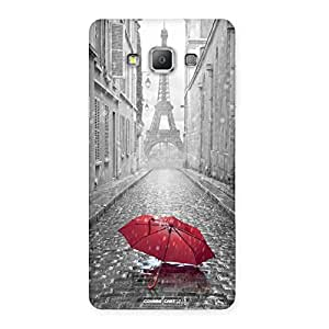 Neo World Red Umbrella City Back Case Cover for Galaxy A7