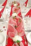 """Fibula [Style] ® Komplettset """"Sweet Love"""" Größe S Tischdekoration für Hochzeit/Valentin/Muttertag in rot für ca. 8 - 10 Personen"""