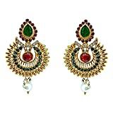 Surat Diamonds Gold-Plated Dangle & Drop...