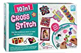 #10: Funny Teddy 10 in 1 Cross Stitch Kit Game for Girls | Party Pack - Art and Craft | Sewing Stitching Thread kit | Birthday Gift