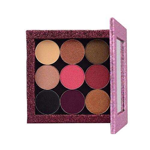 Sharplace Leere Magnetische Palette Kosmetische Palette und 9 Farben Lidschatten Schimmer Hochpigmentierte Pulver - # 3 (Fall Magnetische Kosmetische)