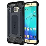 #6: Cubix Tough Armor Slim Rugged Military-Grade Drop Tested Case Defender Shield Shock Resistant Hybrid Heavy Duty Back Cover Case for Samsung Galaxy S6 EDGE+ Galaxy S6 Edge Plus (Navy Blue)