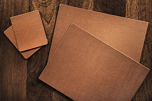 Juego de 6Classic cobre leather-board manteles...