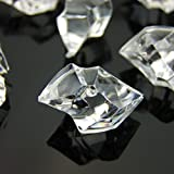 Best Crystal Ice Bags - 100 x Acrylic Scatter Crystal Nuggets Ice Chunks Review