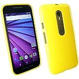 Emartbuy® Motorola Moto G3 ( 3rd Generation ) Glänzend Gloss Gel Skin Tasche Hülle Gelb