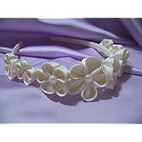 Cerchietto Coroncina bianco fascinator per Prima Comunione