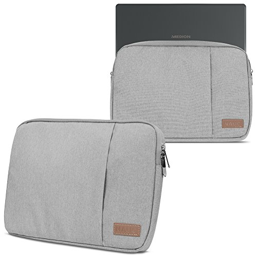 Medion Akoya E3216 Hülle Notebook Tasche in Schwarz oder Grau Laptop Schutzhülle Case Cover Etui, Farbe:Grau