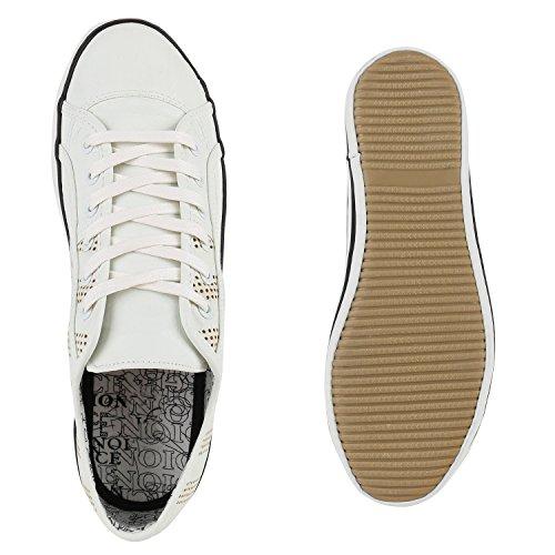 Herren Sneakers Schnürer Sportschuhe Freizeit Schuhe Weiß
