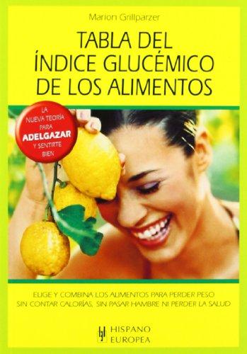 Tabla del índice glucémico de los alimentos (Tablas de alimentos)
