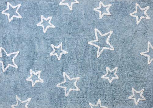 Aratextil Estrella Alfombra Infantil, Algodón, Celeste, 120x160 cm