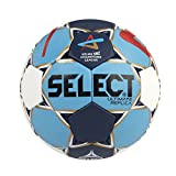 Select 1672858 Ballon de Handball Mixte Adulte, Blanc/Noir/Rouge, 3