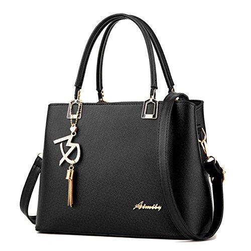 Dreamaccess , Damen Tote-Tasche Medium, schwarz - schwarz - Größe: Medium